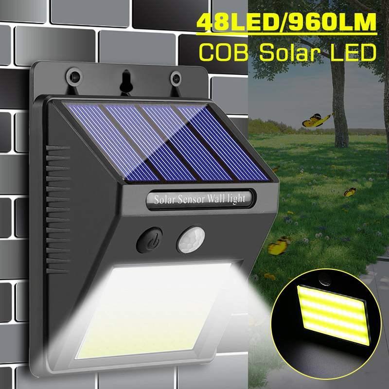 960LM 48LED COB LED Солнечный Настенный Светильник PIR Motion Sensor Открытый Путь Двор Ночной Безопасности Лампа Водонепроницаемый IP65