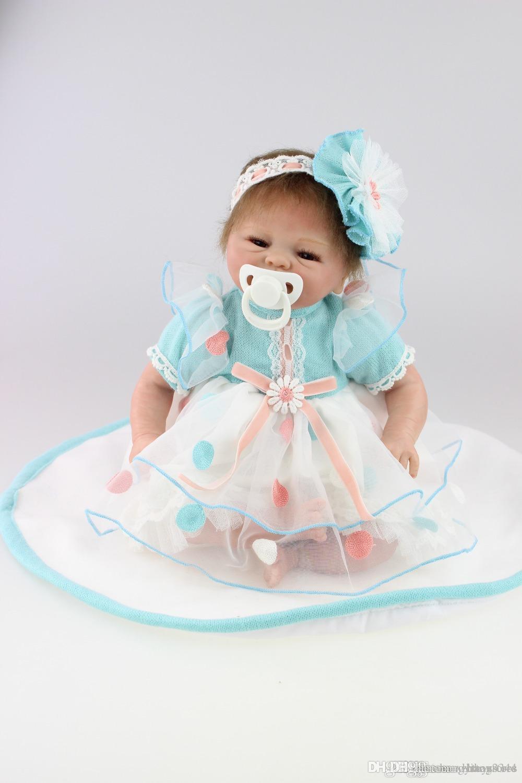 ht gratuito shippingNEW venda quente realista boneca reborn atacado macio bebê real toque bonecas presente de Natal Preço: US $ 89,90 / piece