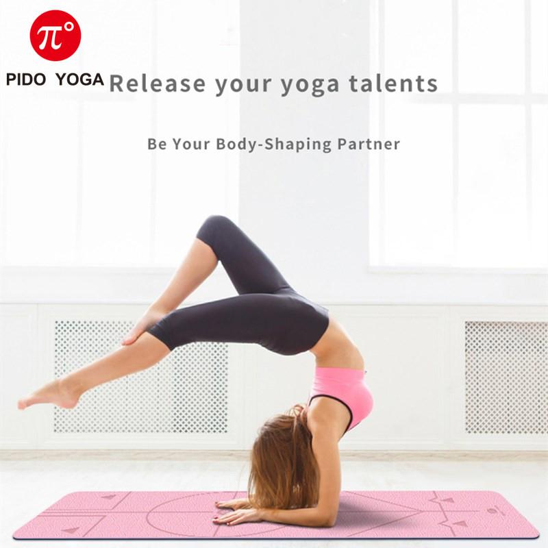 2020 Pido Yoga183 61 0 6cm Tpe Yoga Mat With Position Line Anti Slip Double Color Gym Mat Beginner Eco Friendly Pilates From Ys Outdoor 32 66 Dhgate Com