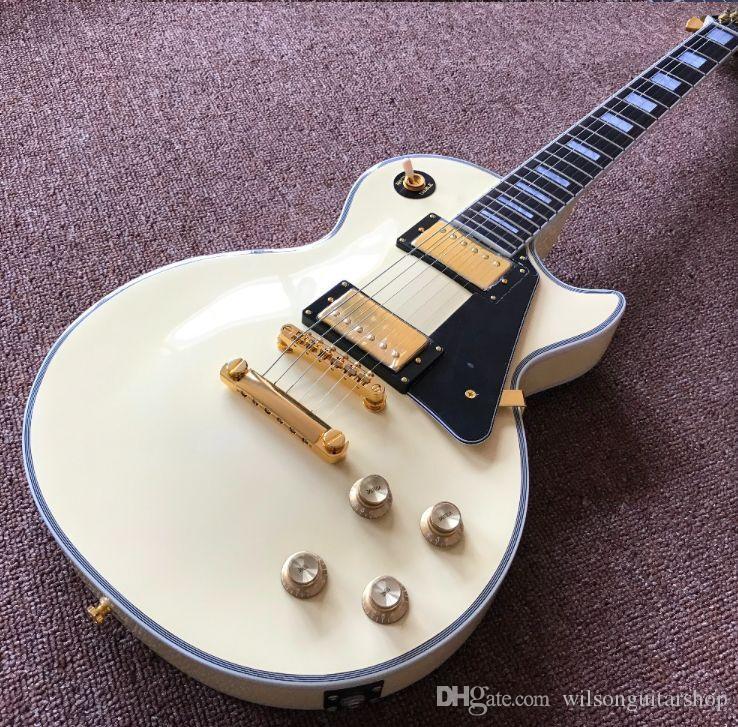 di alta qualità della chitarra elettrica, di colore crema guitarra.handmade 6 punture chitarra, Rosewood strumenti fingerboard.musical guitarra.