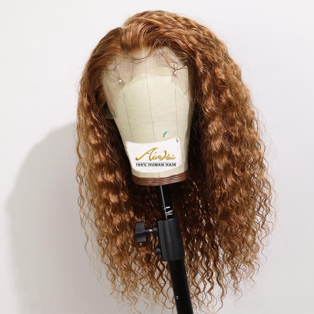 Brown polychromes dentelle perruques de cheveux humains avec bébé cheveux avant de dentelle Glueless perruques pour les femmes noires du Brésil droite perruque de dentelle
