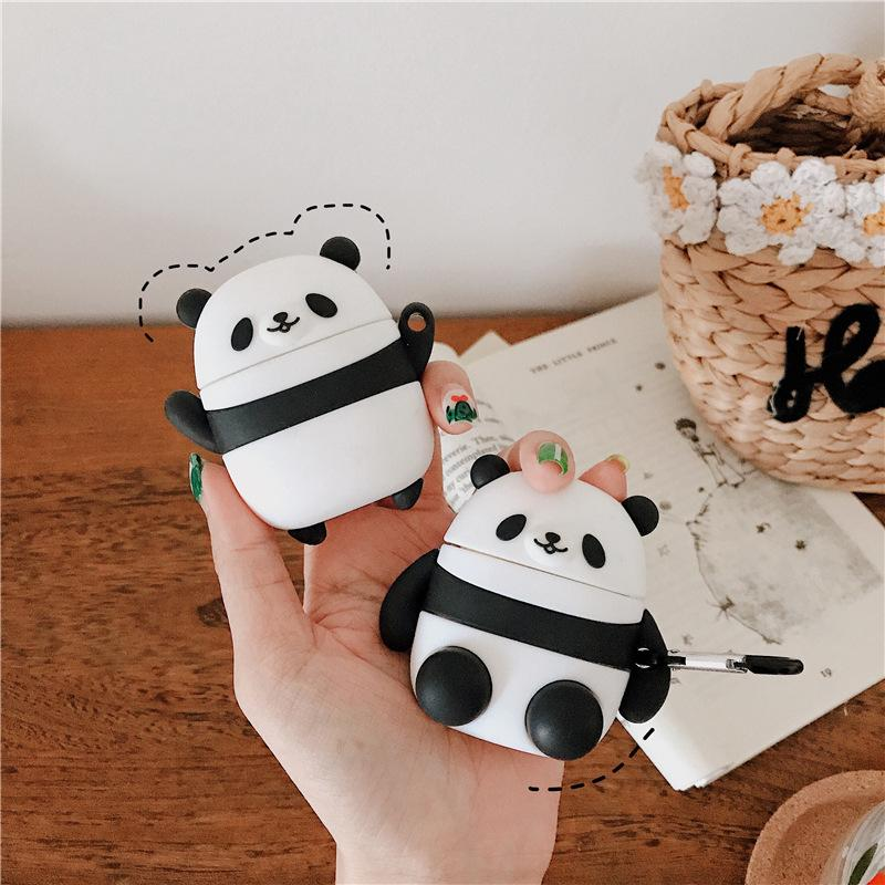 Fashion airpods case creative cute bear bluetooth headset shell suitable for AirPods 1/2 headset protection case silicone anti-fall shell
