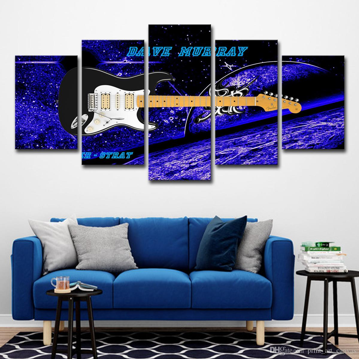 guitar wall decor.htm 2020 hd printed canvas art abstract guitar painting blue wall  2020 hd printed canvas art abstract