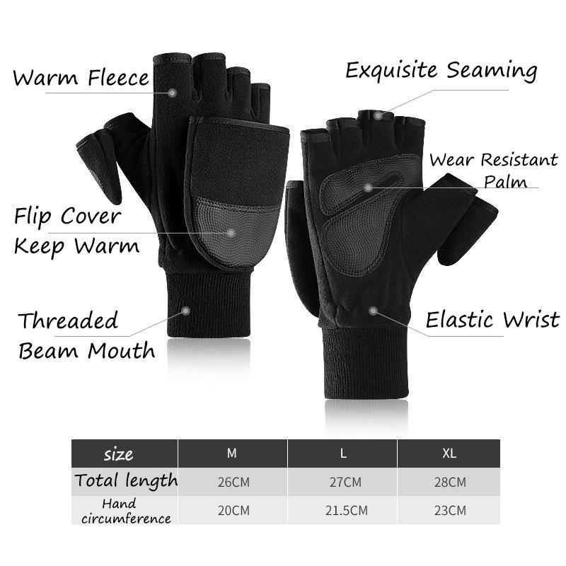 Hiver molletonnée Gants Contact écran Homme COUVERTURE Fait référence à plus de velours extérieur Photographie Gants Épaississement