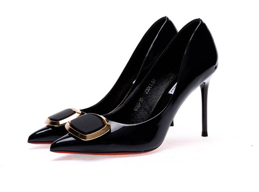 2020 весной и осенью с новой модой стиля Высокого каблуком прекрасных пятками заостренным концом бантом обуви Женской @ MQWBH736