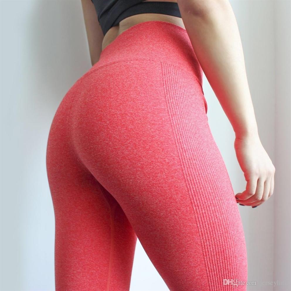 DutteDutta Frauen Hohe Elastische Fitness Sport Leggings Yogahosen Dünne Laufhose Sportbekleidung Sporthose Hosen Kleidung # 19949