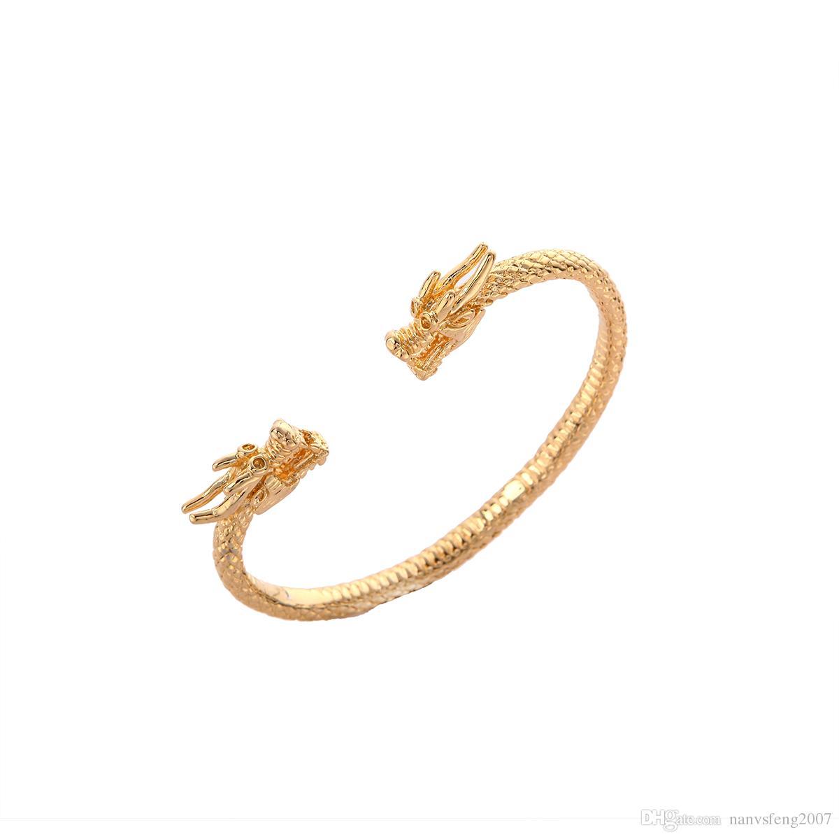 Дракон браслет Браслет для мужчин женщин 24K золотой браслет талисман ювелирные изделия животных браслет Гайана Южная Америка браслет
