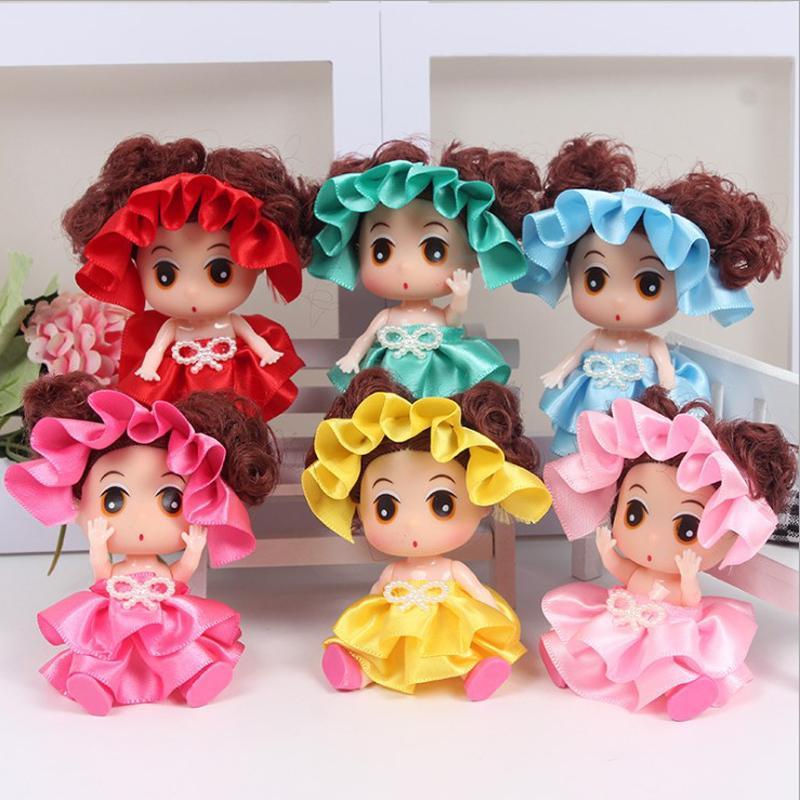 9cm Princess Puppen Keychain Badekappe Baby bowknot Hochzeit Kleid-Rock-Geschenke Spielzeug für Kinder Kinder