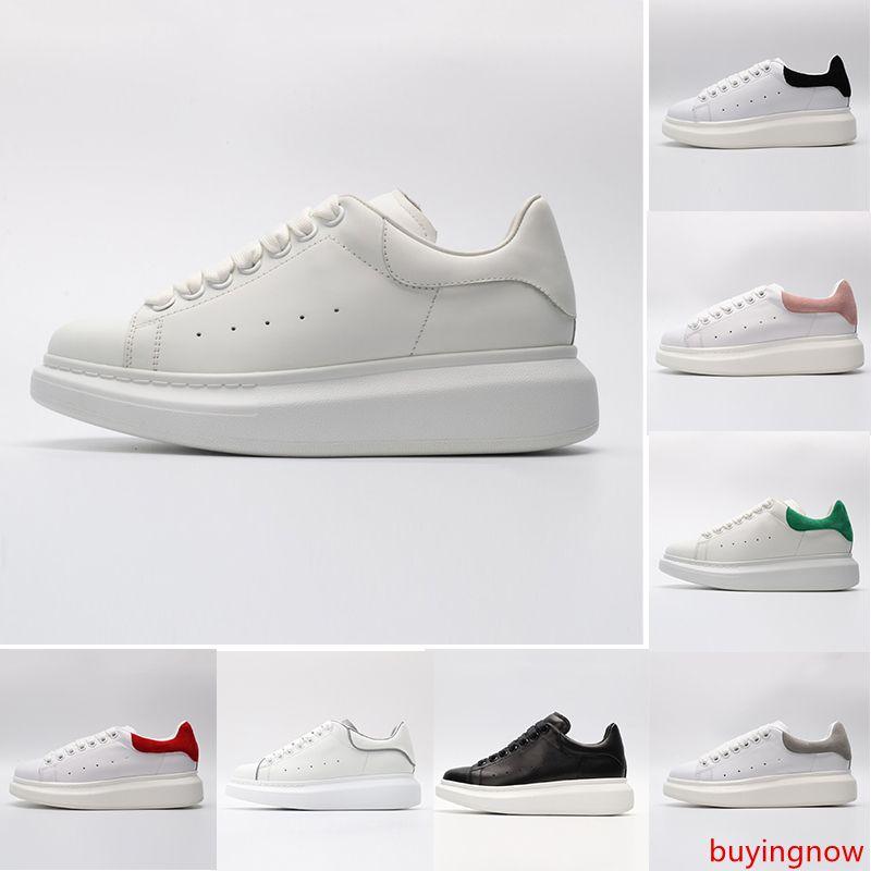 Nuevo ACE Negro blanco s Marca de moda de lujo de cuero zapatos casuales para niña mujeres hombres negro oro rojo gris cómodo zapatilla plana