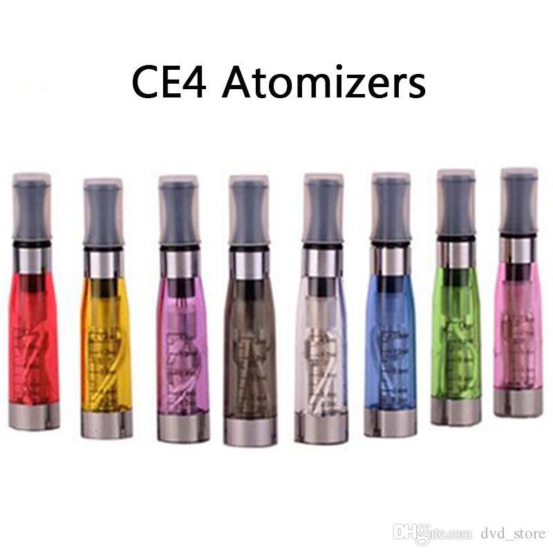 CE4 Clearomizer Colorato E Cigaretta Atomizzatori Ego Filettatura 1.6ml Capacità vape Capacità Serbatoi 8 colori 5pcs / pack