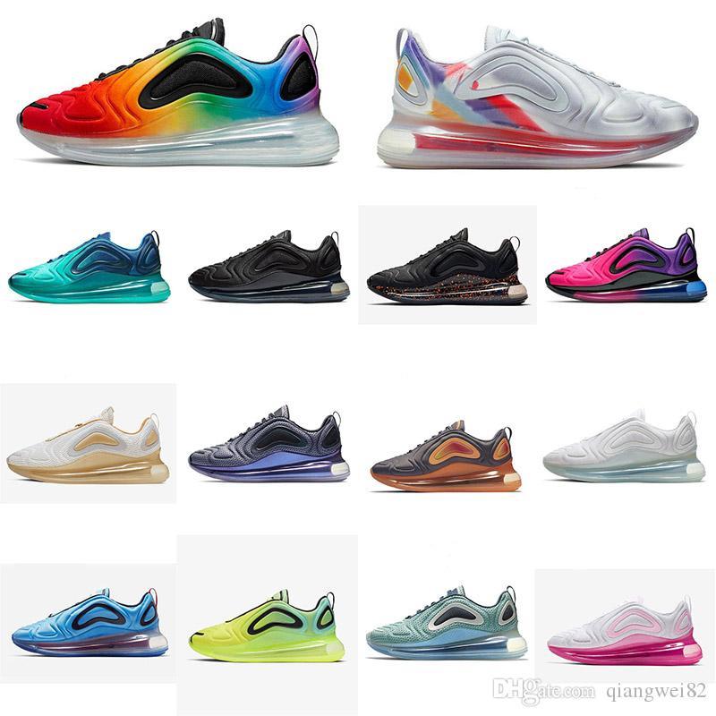 2019 Erkekler Kadınlar için Koşu Ayakkabıları Kuzey Işıkları Üçlü Siyah Kırmızı SUNRISE KARBON GRI DESERT ALTıN Erkek Eğitmenler Spor Sneakers 36-45