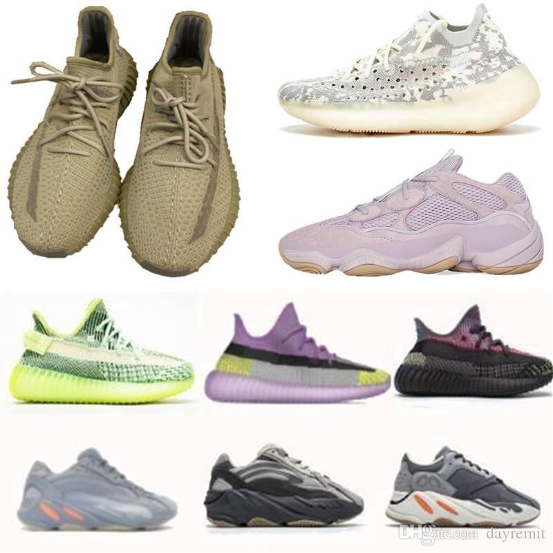 2020 yecheil yeehu 자주 빛 관성 정적 트리플 블랙 V2 반사 운동화 500 380 700 개 실행 신발 벨루가 오레오 breds 점토 스포츠 신발 X