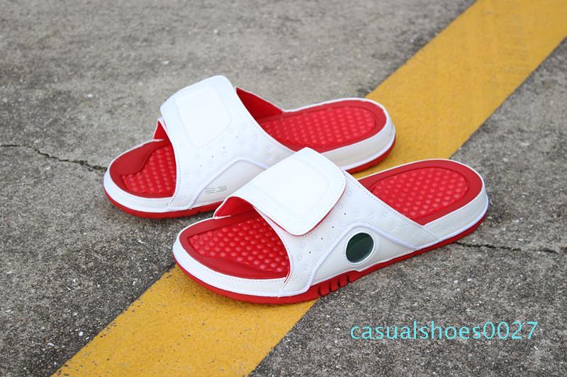 Toptan 13 Hidro KIRMIZI beyaz terlik MEN 13s basketbol ayakkabıları spor ayakkabıları açık havada rahat kadın moda eğitmenler boyutu 36-46 C27