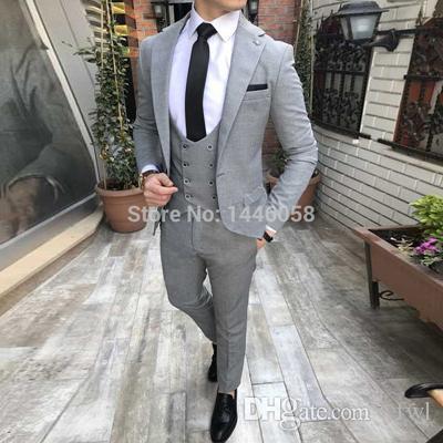 Weiß Smoking Bräutigam Hochzeit Männer Anzüge Herren Hochzeit Anzüge Smoking Kostüme Rauchen für Männer Männer (Jacke + Pants + Tie + Vest) 024