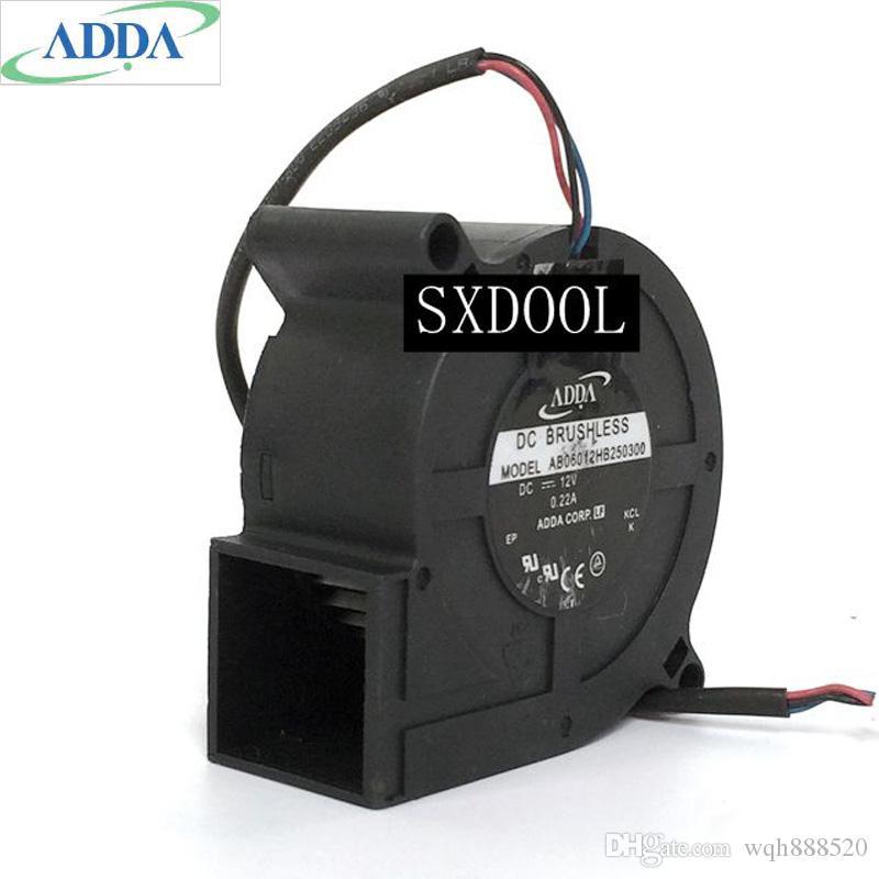 Wholesale Adda AB06012HB250300 6025 6 سنتيمتر 12 فولت 0.22a العارض مروحة تبريد منفاخ