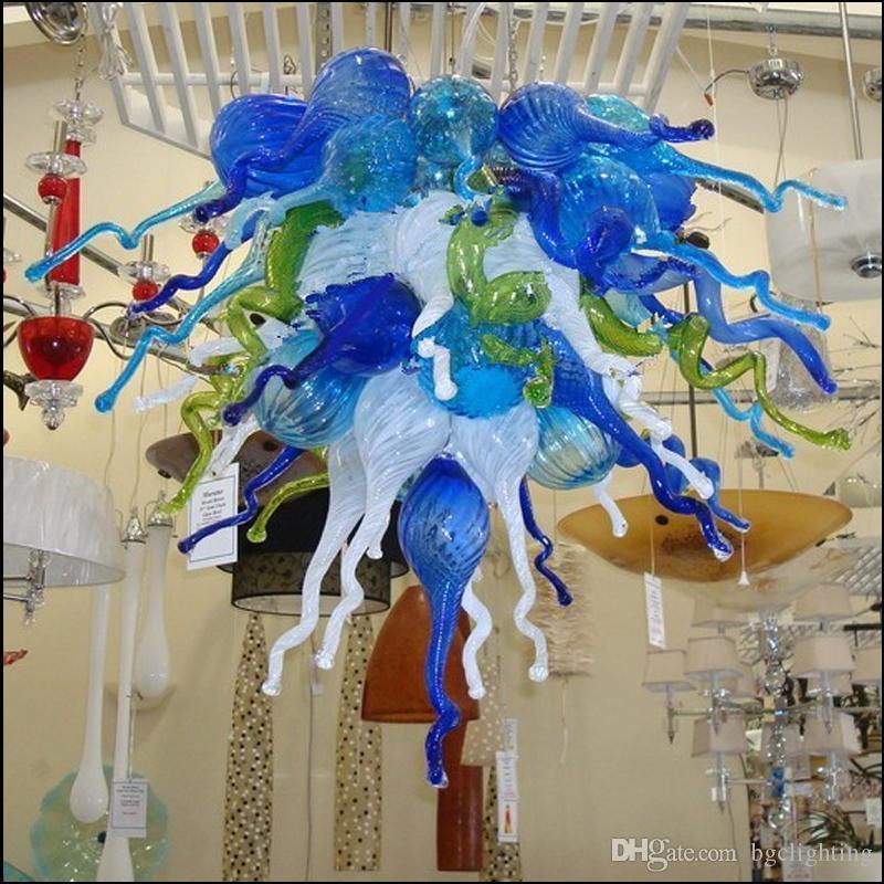 Spanisch Multicolor-Lampen Hand Blown Murano Glasleuchter Licht Customized Farbige Moderne Hotel-Dekor-Glas Pendelleuchten