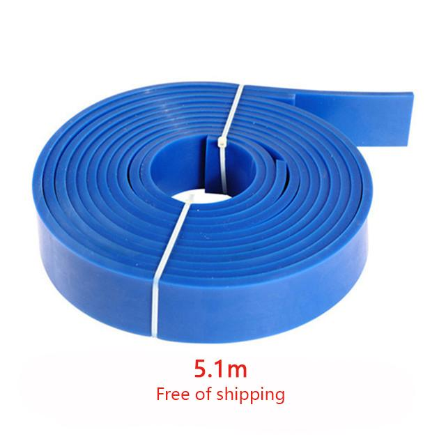 5.1 m Rubber Belt Rubber Linnings for Wire Saw Machine Guide Wheel Pulley Flywheel