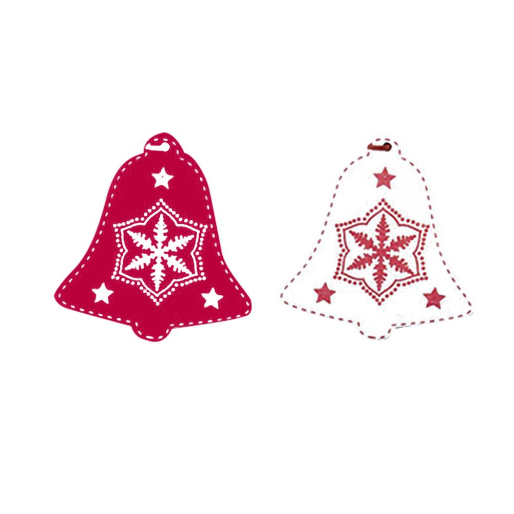 12Pcs Colorful Mini Diy Glitter Christmas Bells Gift Boxes Christmas Tree Ornaments Hanging Decoration Pendant Holiday Home Part