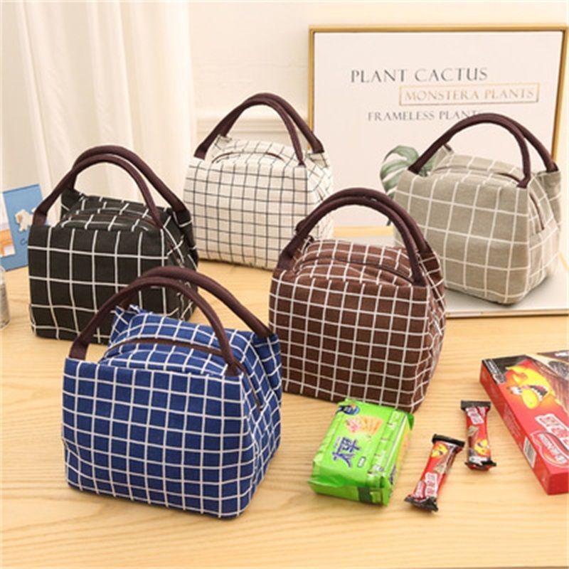 تباع جيدا سستة الحقائب المحمولة مبردات معزول سعة كبيرة حقيبة الغداء في الهواء الطلق نزهة حقيبة اليد نمط الساخنة 5 2pdH1