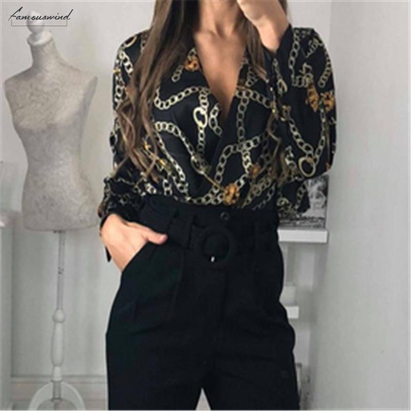 Abbigliamento Donna Moda Donna Casual profondo scollo a V del modello delle parti superiori delle tute maniche lunghe Body Body camicetta
