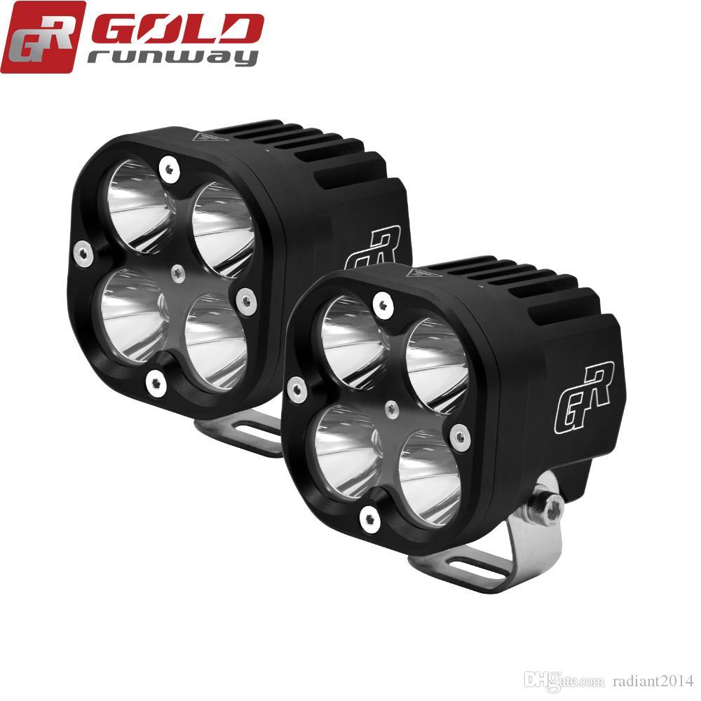GOLDRUNWAY 40 W U3 farol Da Motocicleta holofotes 4200lm auxiliares luzes LED luz de Nevoeiro CNC usinado De Alumínio Habitação