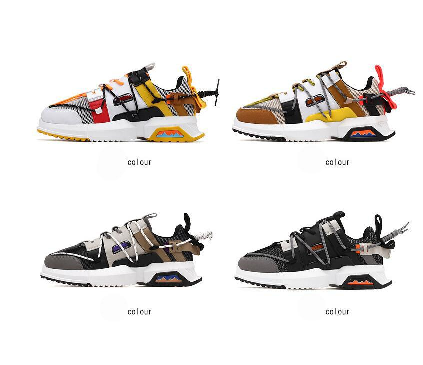 Spring summer breathable mens designer shoes fashion patchwork sport men casual shoes lace up tide street shoes men