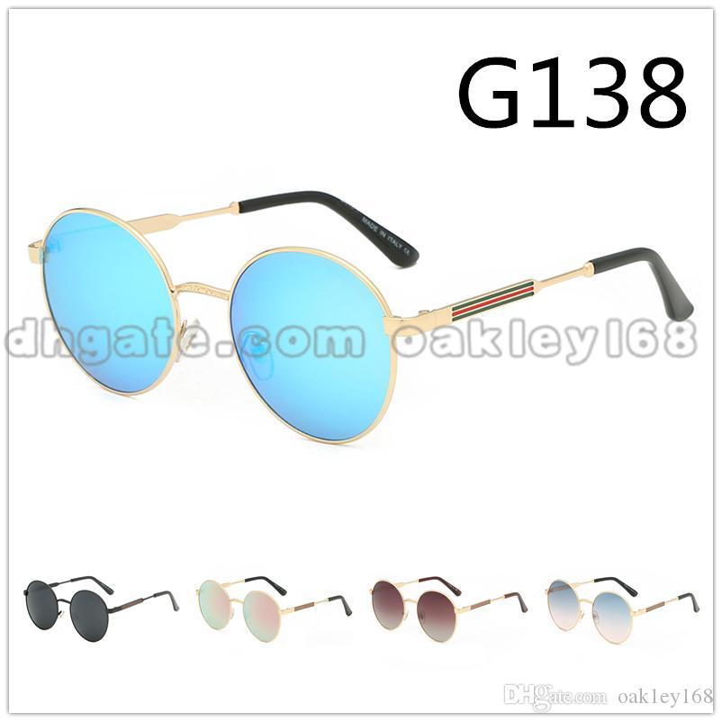 New Metal Round Retro Sunglasses High Quality Fashion Classic Brand 138 Sunglasses UV400 Glasses Goggles 2019 Hot