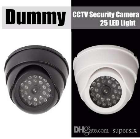 NEW Fake Dummy CCTV Security Camera 25 LED Light IR Color Surveillan Indoor Outdoor