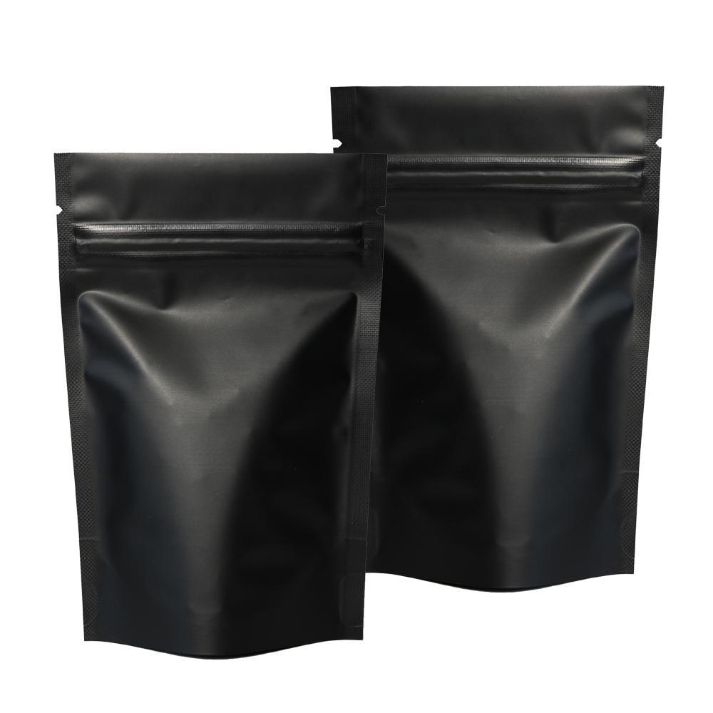 Matte Black Package Taschen Reißverschluss Aluminiumbeutel Warmausche Aufbewahrungstasche Stehstasche Großhandel