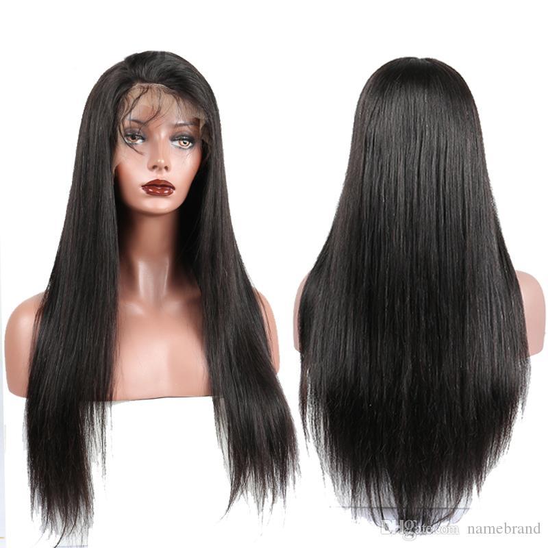 colore naturale dei capelli umani diritti parrucche 360 parrucca Pizzo anteriore umano trasparente del merletto con i capelli del bambino