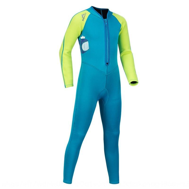 Çocuk Güneş kremi uzun kollu snorkelin dalış gr kız erkek Siyam büyük mayo hızlı kuru dalış dalış kıyafeti içinde mayo