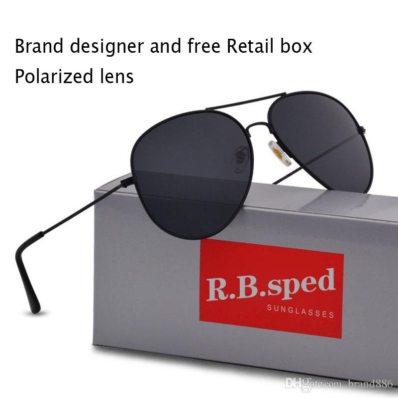 Free shipping High Quality Brand Designer Polarized Sunglasses Male Driving glasses Fashion Men Sunglasses Eyewear With Box and Case