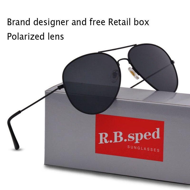 Ücretsiz kargo Yüksek Kalite Marka Tasarımcısı Polarize Güneş Gözlüğü Erkek Sürüş gözlük Moda Erkekler Güneş Gözlüğü Gözlük ...