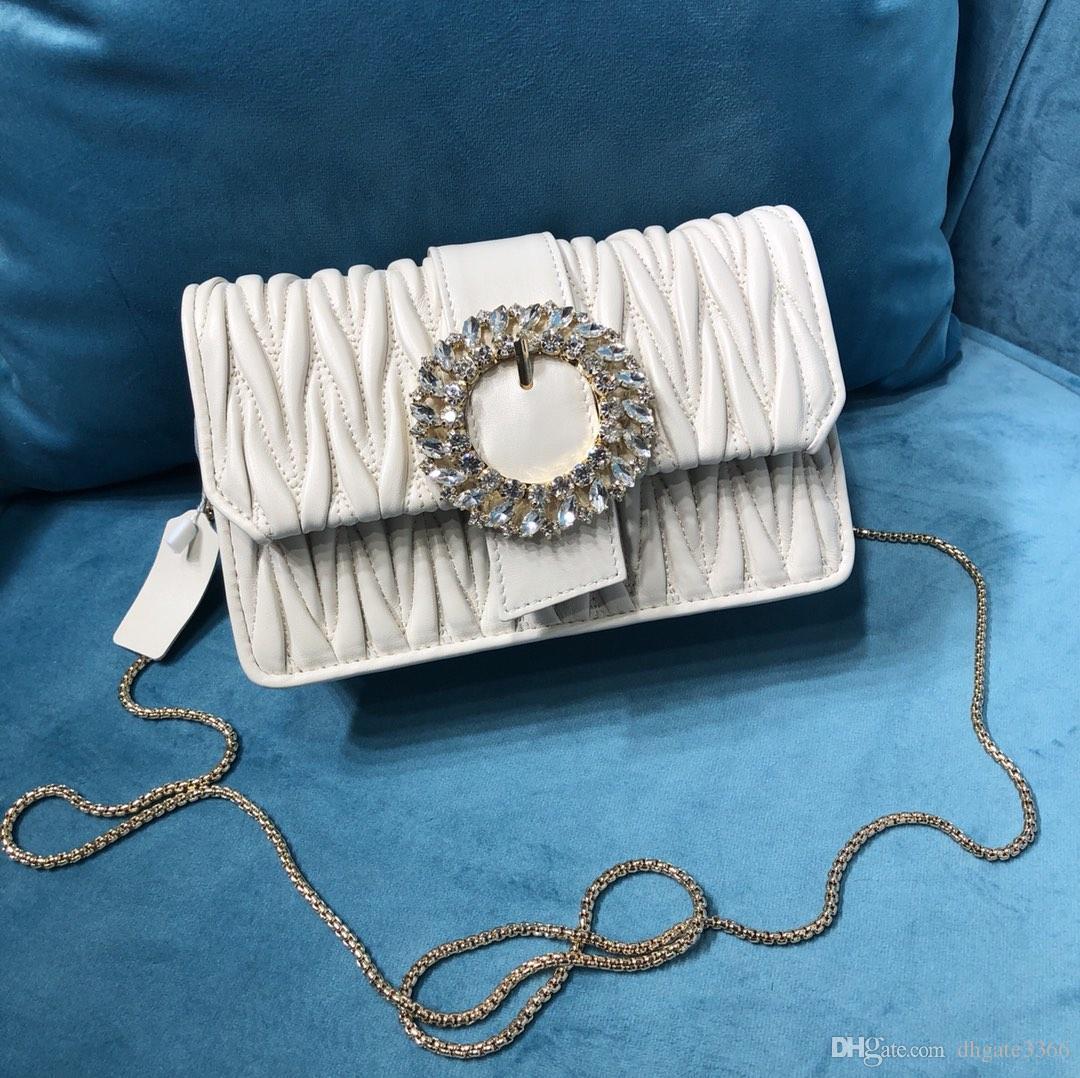 Luxury fashion handbag ladies Messenger bag shoulder bag designer bag latest quality craft original imported sheepskin inlaid shiny large ro