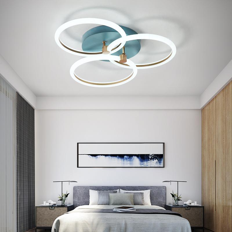 Moderne LED-Kronleuchter Ringe Wohnzimmer Sduty Raum Schlafzimmer Led Lustres Memory-Funktion führte Deckenleuchter Beleuchtung