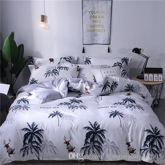 Popolare Quilt Cover lenzuolo federe o un'immagine fissa quattro-piece Copertura saia piumone cotone puro Imposta casa Biancheria da letto Forniture 2M 1.8M