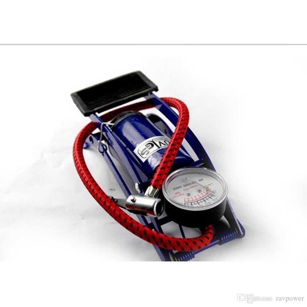 Портативный мини-насос для ног высокого давления портативный мини-насос для велосипеда / мотоциклов / электромобиль / автомобиль - синий