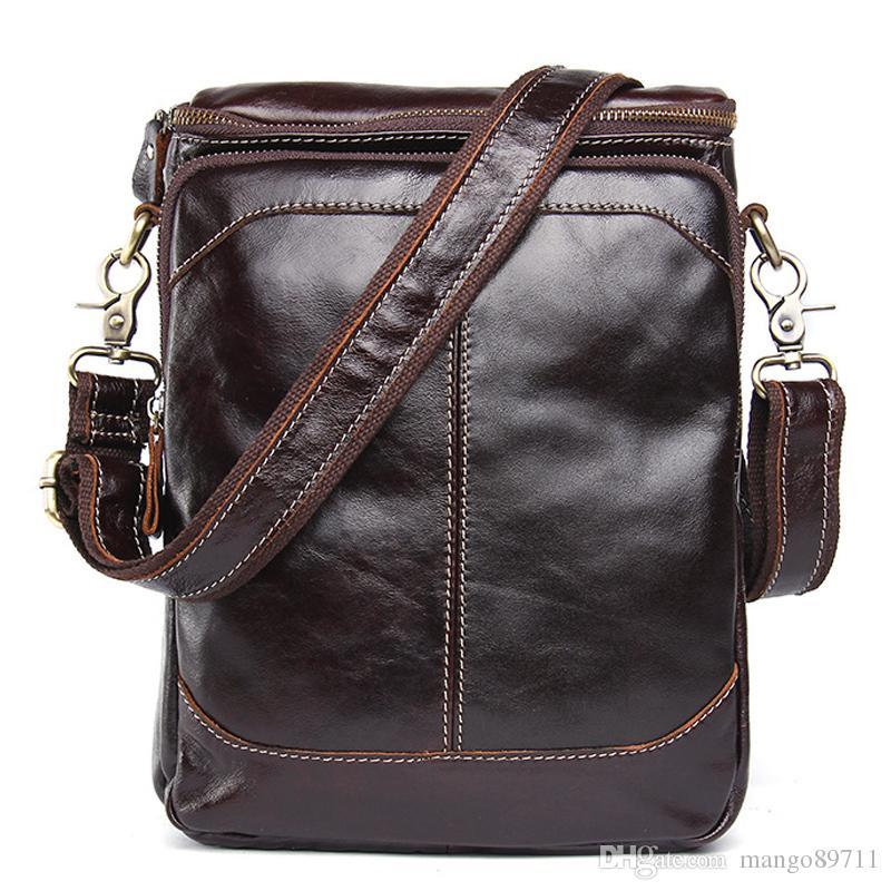 erkek deri moda Küçük Flap erkek Crossbody Çanta çanta Gerçek Leathe için handbags'in cüzdan Çantası Erkekler Gerçek Deri omuz çantası