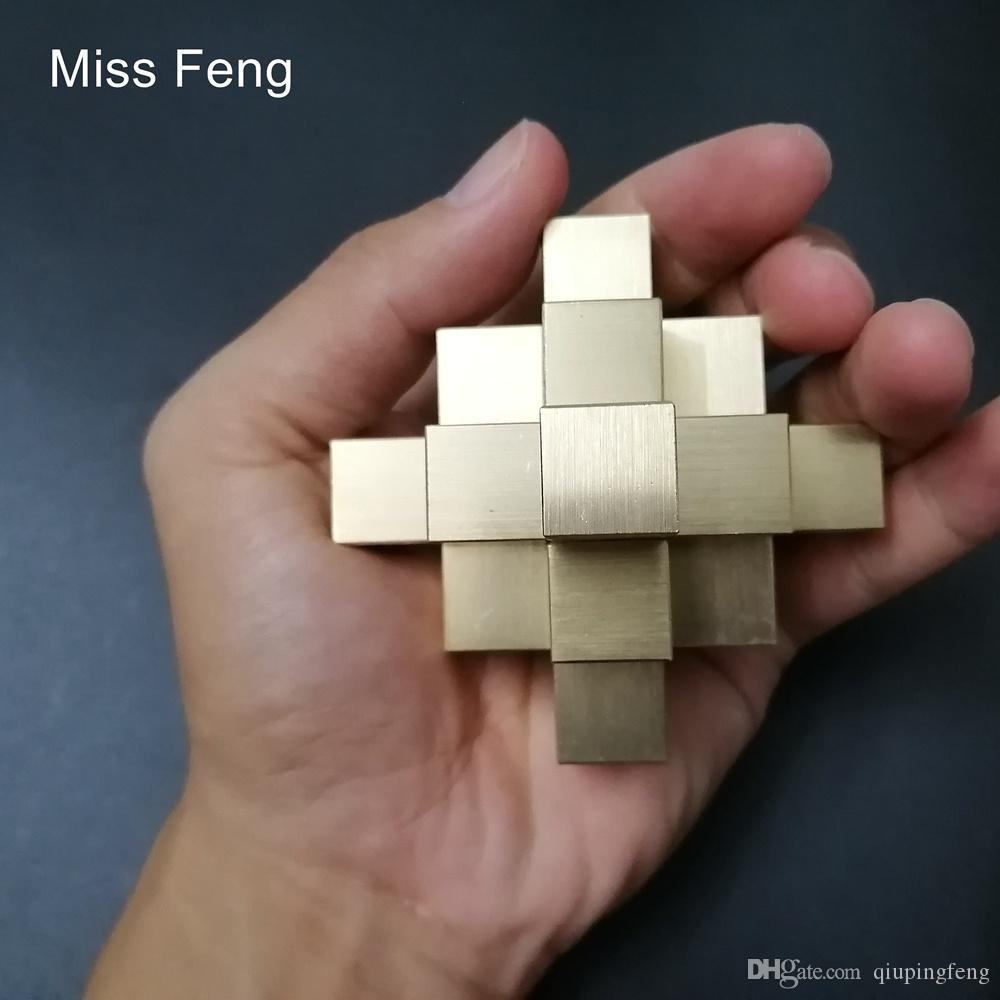 H449 / Rompicapo Cinese Kong Ming Lock Collezione di puzzle 3D Puzzle in metallo puro Modello in metallo Gioco di modellini Hobby