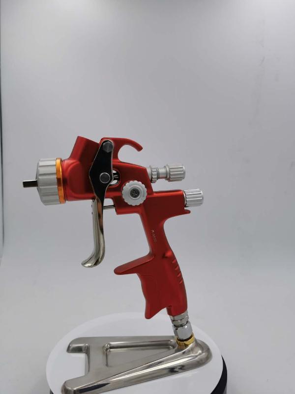 Профессиональный воздуха краска пистолет Распылитель LVLP силы тяжести кормите 1.3 / 1.4 форсунку ж / т тела бак автомобиля Paint Tool Пистолет Распылитель