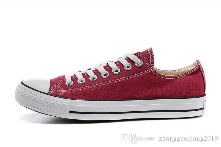 NOUVEAU Nouveau unisexe bas-Top Haut-Top adulte Femmes Chaussures de toile de star hommes 13 couleurs lacées Chaussures Casual Chaussures de l'espadrille vendent au détail