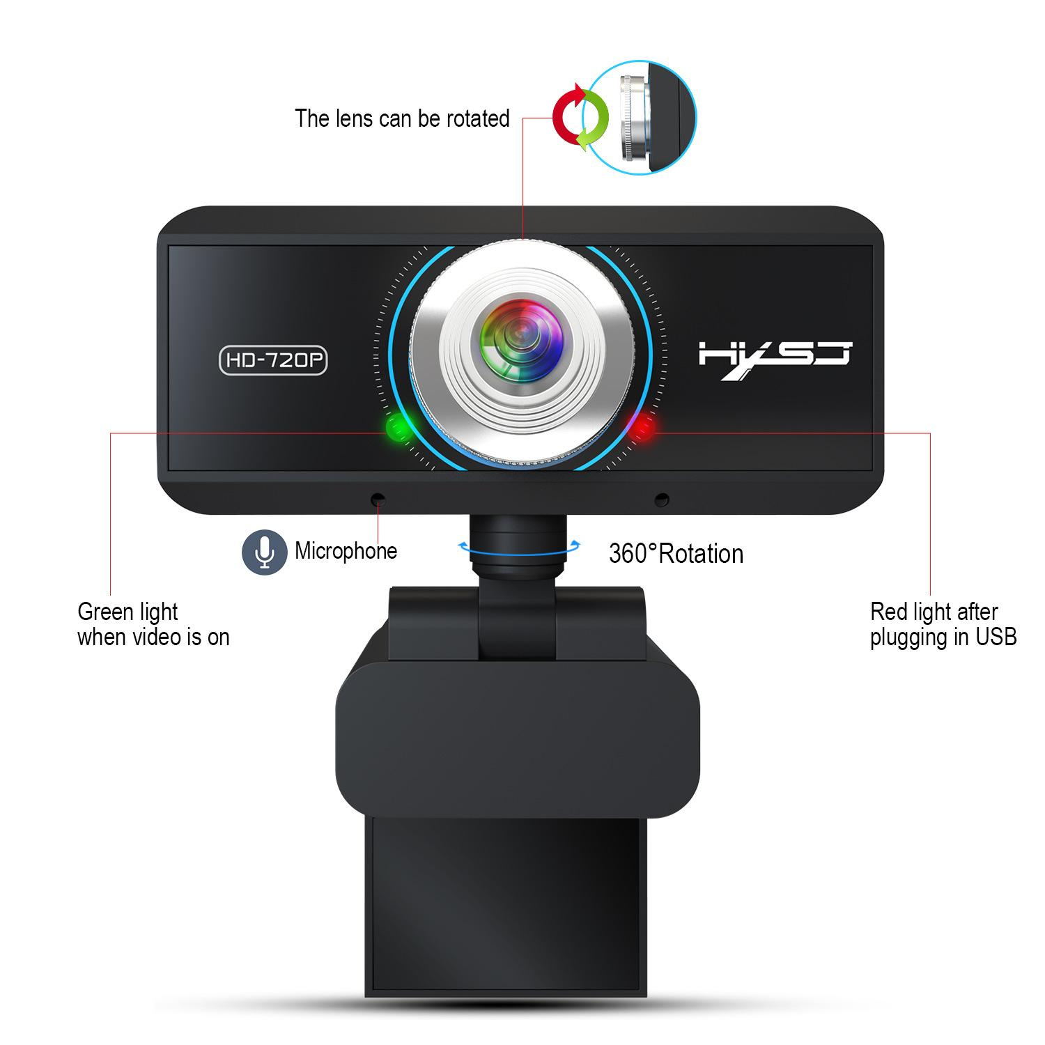 Webcam 1080P Web Cameras Rotatable 1920x1080 Computer Web Cam PC Camera with Mic Microphone for Computer Laptop Netbook S4