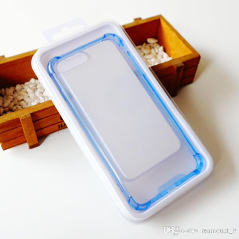 Pacote vazio claro do retalho do PVC para a tampa magro do telefone Personalizou sua caixa de embalagem do projeto para a caixa do telefone móvel