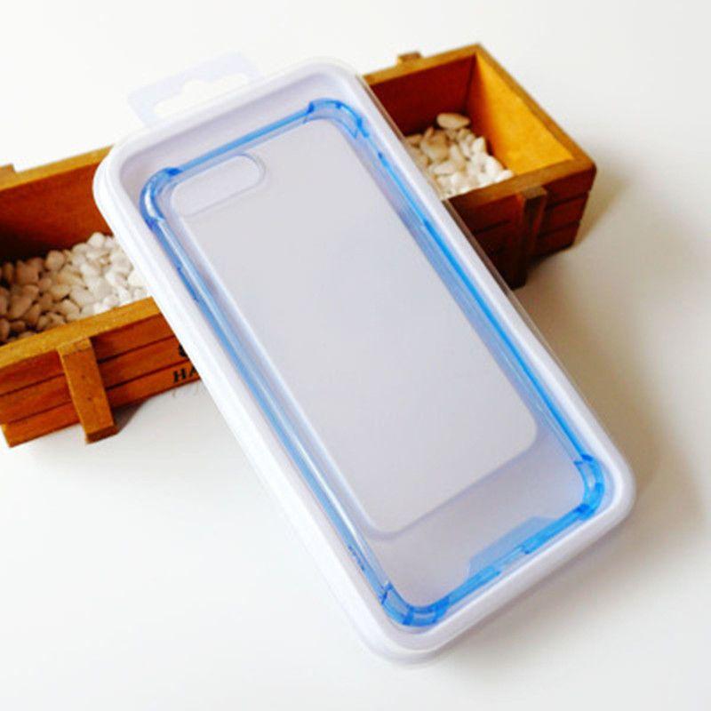 Paquet de vente au détail vide en PVC transparent pour couverture de téléphone mince, adapté aux besoins du client de votre boîte d'emballage de conception pour le boîtier de téléphone portable