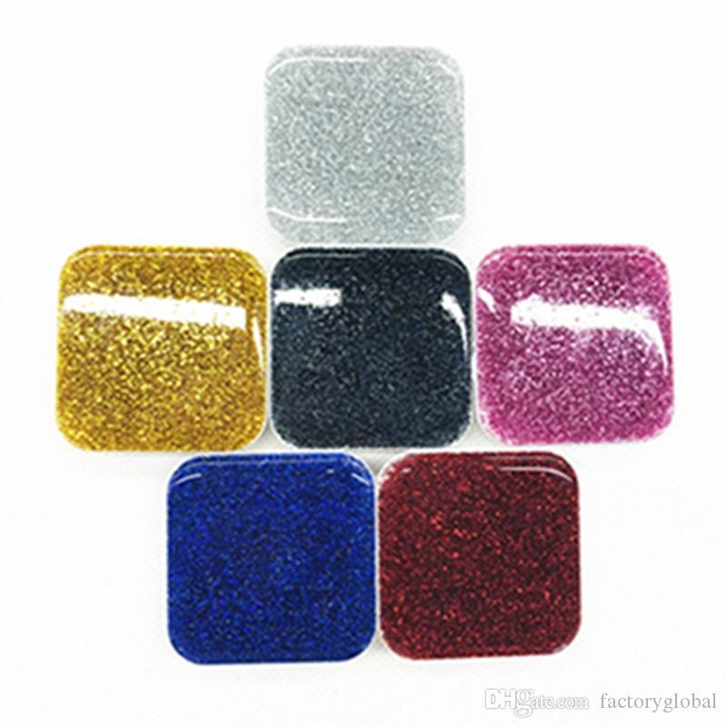 Universal New Square Glitter Style Air Bag Grip Extensible Soporte para teléfono celular Soporte Soporte 3M Pegamento con paquete de bolsa Opp