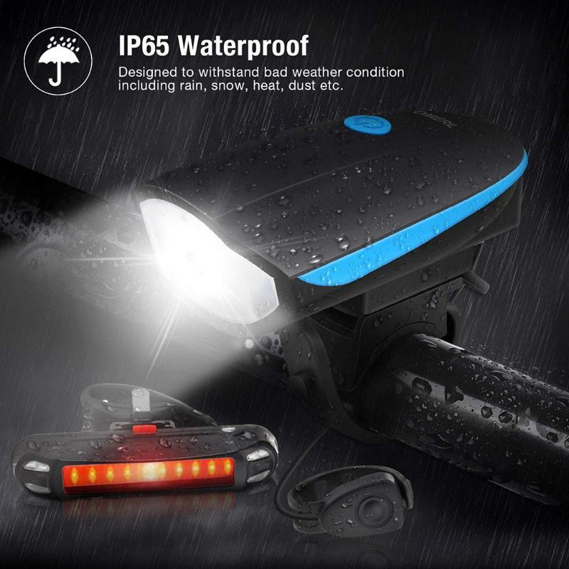 Accessori di avvertimento ricaricabile Mountain Bike Cycling Luce di coda di sicurezza della bici Luce impermeabile coda posteriore USB LED