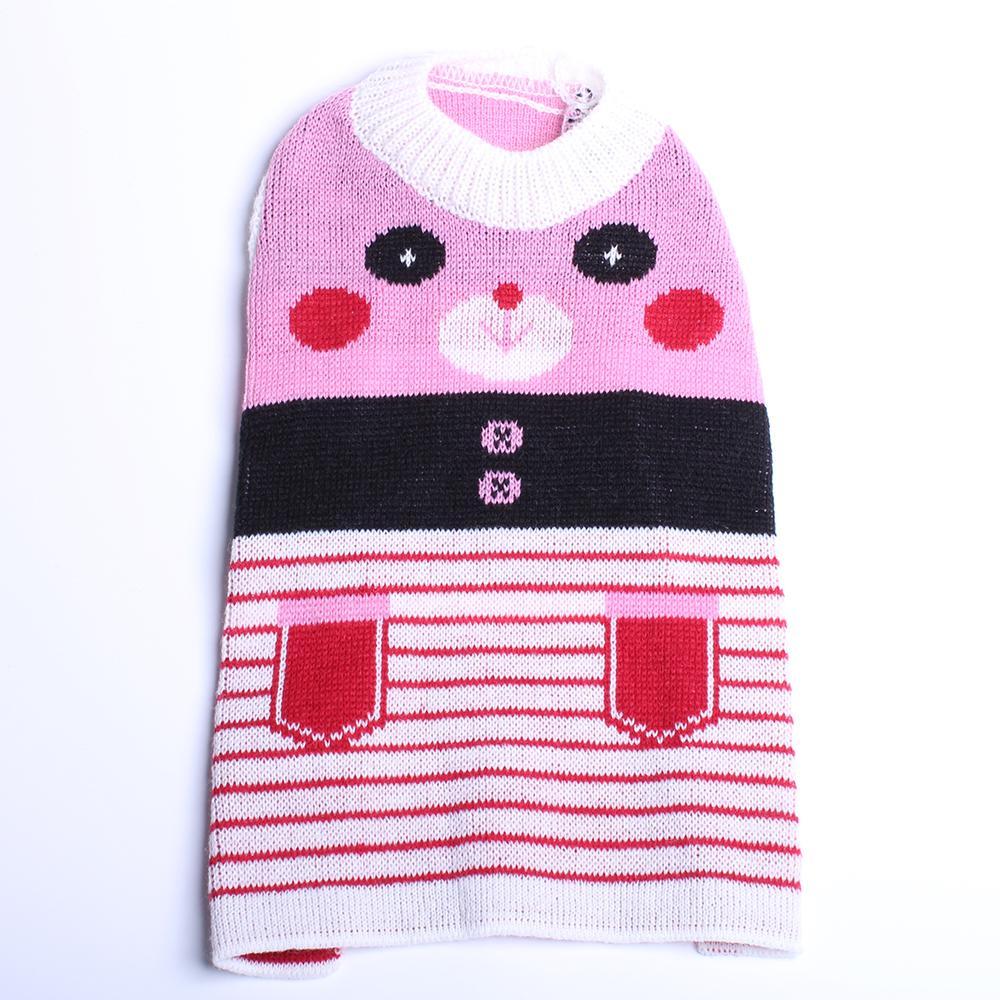 Pet Dog Sweater Hoody Panda Jacquard Cat Puppy Jumper Coat Jacket Warm Clothes 4 Colors