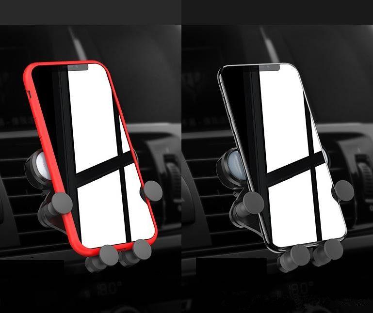 Questa è una staffa per il rilevamento della gravità del supporto per auto del supporto del telefono astuto mobile del supporto dello sfiato dell'aria nel pacchetto al minuto