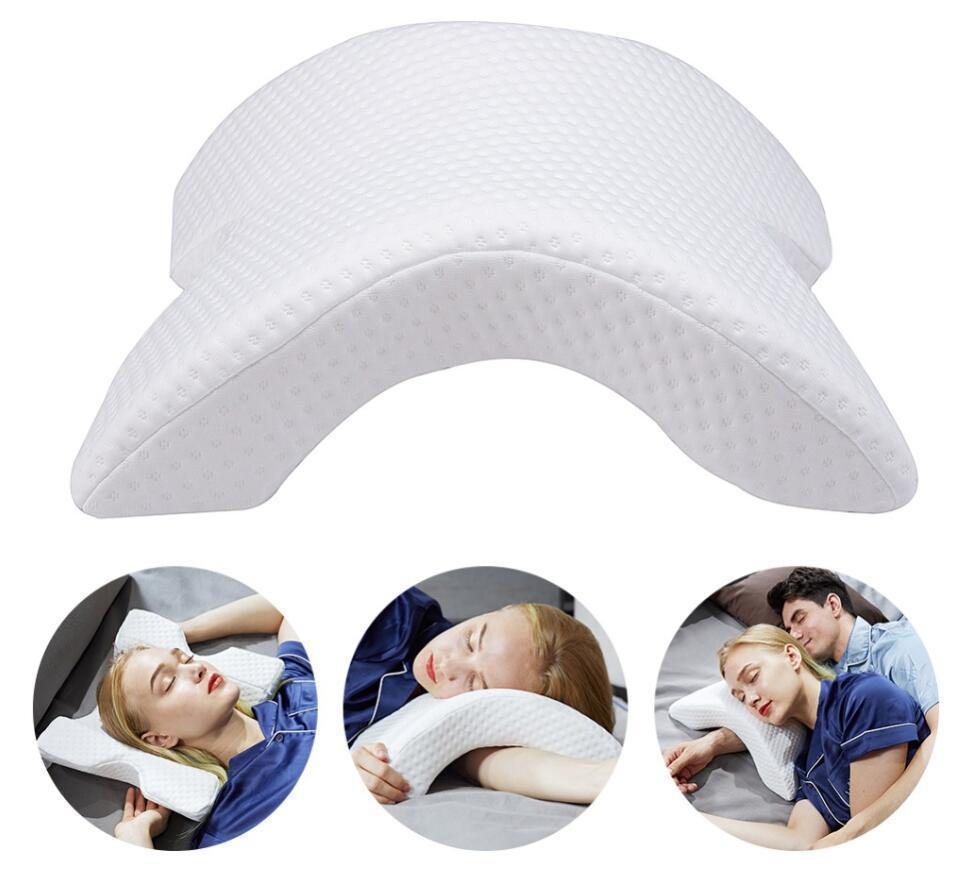 Арки U-образный изогнутый пены памяти подушка постельные принадлежности анти-давления силы подушка медленный отскок дома шелковые подушки для пары сторона с T200603