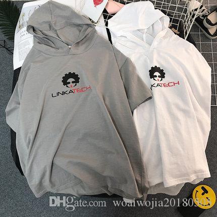 20190322 T-shirt mezza manica con stampa a maniche lunghe stampata Happy Portrait